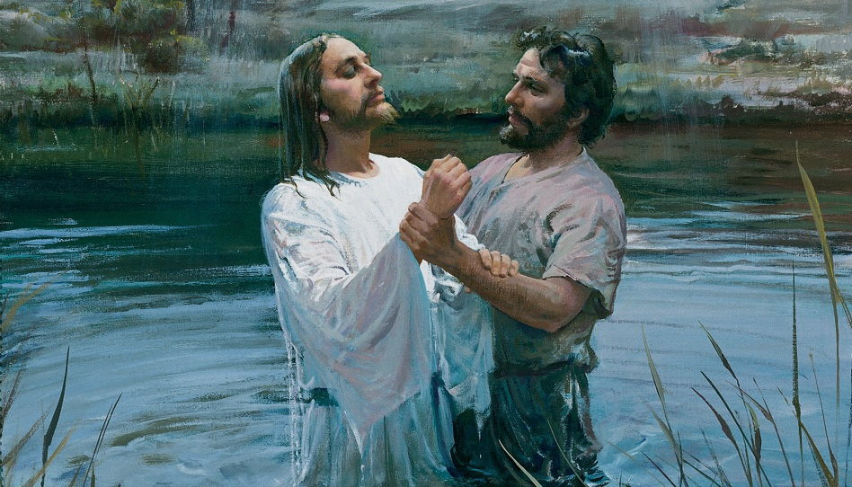 Jesus Johannes der Täufer Taufe im Jordan