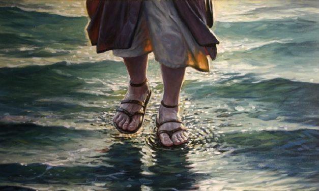 Mit Christus über das Wasser gehen