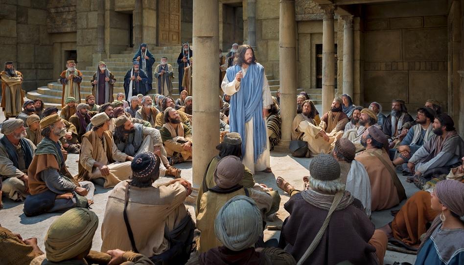 Jesus lehrt im Tempel