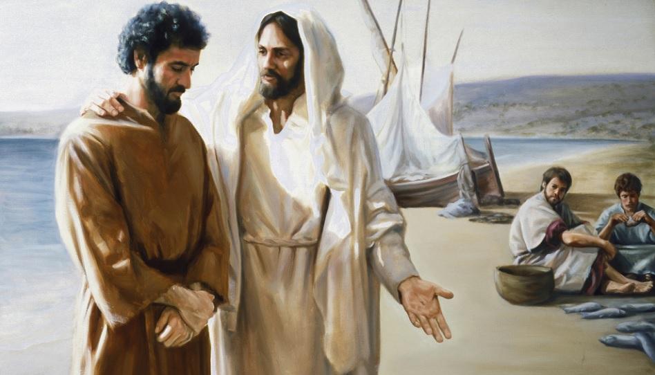 Jesus und Petrus Vertrauen