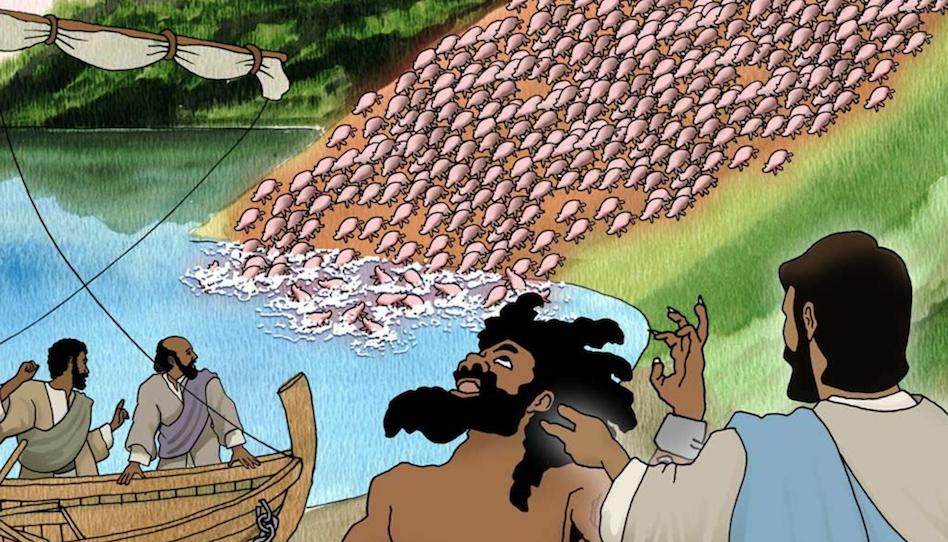 Besessene Schweine Influencer Jesus