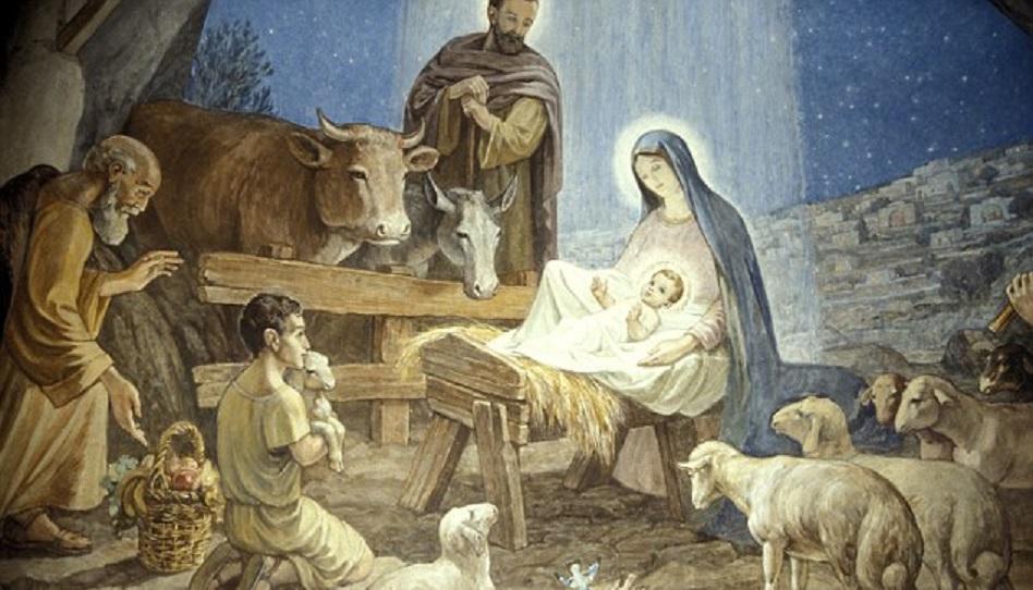 Der Ochse der Szene zu Weihnachten.